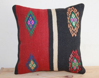 Modern Decorative Boho Kilim Pillow Case Vintage Handmade Anatolian Kilim Cushion Outdoor Pillows Woolen C168