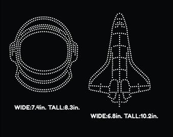 Space ship, helmet, nasa rhinestone template digital download, svg, eps, png, dxf