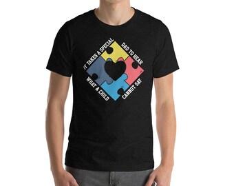 Autism Dad Shirt - Autism Awareness Shirt - Autism Awareness Month - Special Needs Aspergers Special Education Teacher Shirt - Autistic Puzz