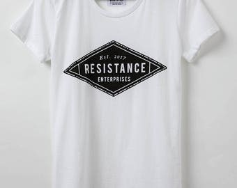 Resistance Enterprises Logo Shirt - Women's T-Shirt - Resist Shirt - Made in USA - 100% Cotton
