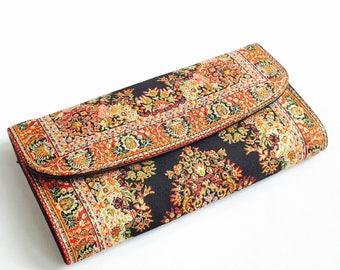 Vegan wallet women, Unique wallet, Unique women's wallet, Ethnic wallet, Tribal wallet, tapestry wallet, hippie wallet, bohemian wallet