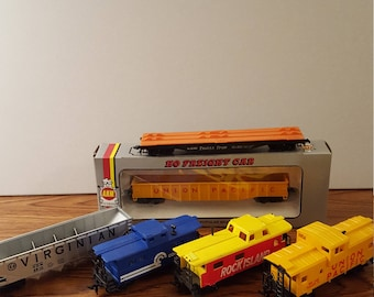 3 HO Scale Freight Cars & 3 Cabooses Value Pack, Model Train, Toy Train