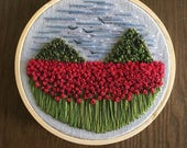 """4"""" Mountains and Poppies"""