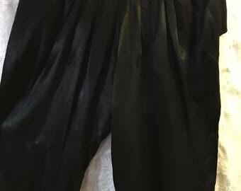 "Black Satin Dress Pants/Approx.Size S/ 26"" waist"