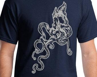 Kraken - Octopus Skull Shirt