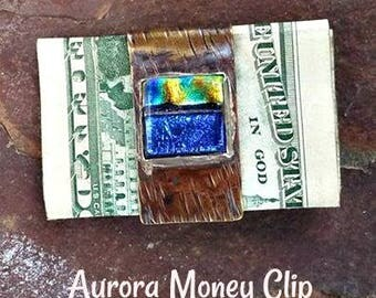 Ashes in Glass Memorial Stone Money Clip, Pet Memorial, Memorial Gifts for Guys