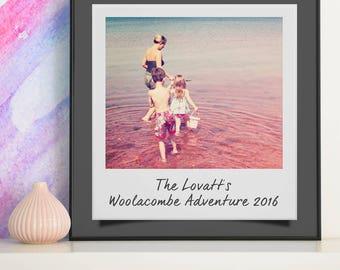 Personalised Polaroid Photo Art
