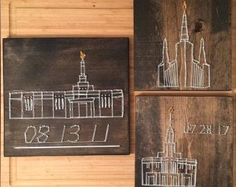 Custom LDS Temple String Art