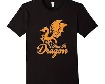 Dragon T-Shirt Gift - Dragon Tee - Gift For Dragon Lover - Unique Dragon Gift - I Am A Dragon - Dragon Gifts Under 20