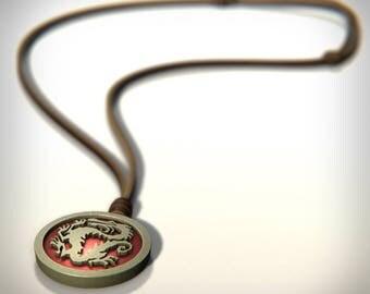 Mulan Inspired Medallion Pendant