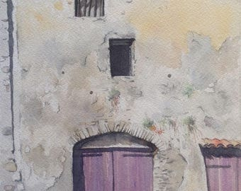 Saint-Romain in Vienna (Vaucluse) watercolor watercolor wasserfarben acuarela aquarel waterverf Provence