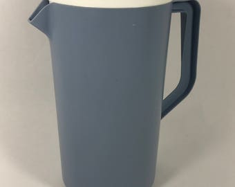 1970's | Vintage | Rubbermaid Pitcher | blue and white