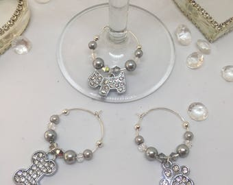 Wine Glass Charms - Dog Themed