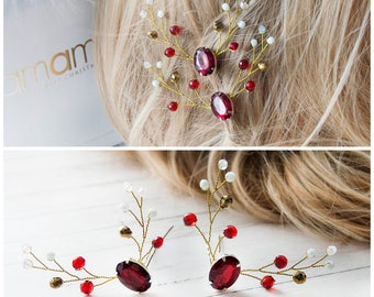 Christmas Bobby Pins Christmas hair clip Christmas party Bridal winter hairpins Winter hair pins Christmas Hair Pins Winter Hair Accessories
