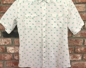 SUPERbrand Mint-Green-Mountain Men's Woven Shirt