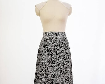 Black and white vintage cloverleaf skirt, A-Line skirt