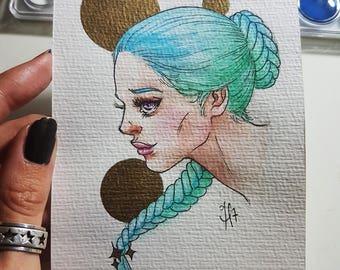 Postcard watercolor