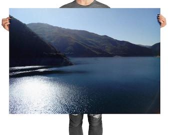 Nature Poster Lake Mountains