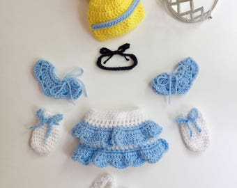 Handmade Cinderella Inspired Newborn Costume