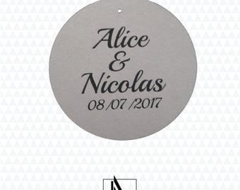 100 personalized wedding tags