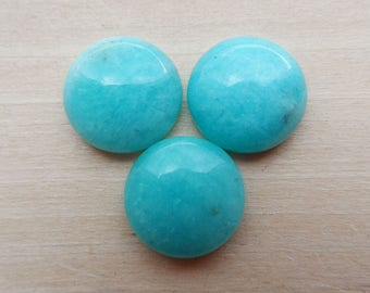Amazonite Round Cabochon Set 12mm