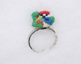 Haus am See ring-polymer/Fimo-resin-mini DIY