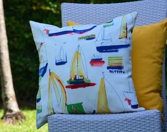 Outdoor Pillow Cover / Throw Pillow for Indoor or Outdoor/ Great for pool or boat / Decorative Pillow