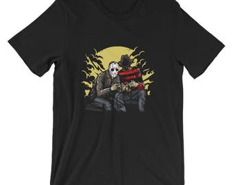 Dark Gamers Freddy vs Jason Short-Sleeve Unisex T-Shirt