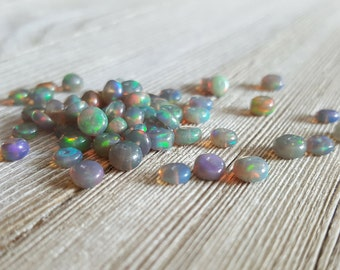 Black Ethiopian Opal Smooth Rondelle Beads 3mm, 4mm