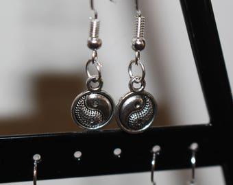 Yin and yang charm earrings