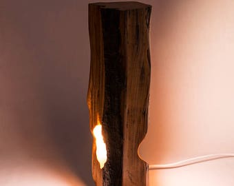 Wood Lamp with LED Bulb