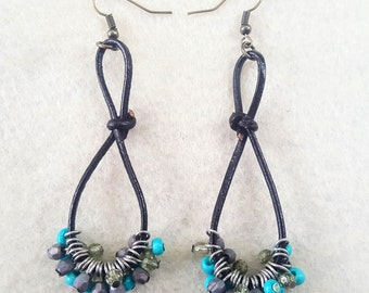 Twisted Leather Earrings