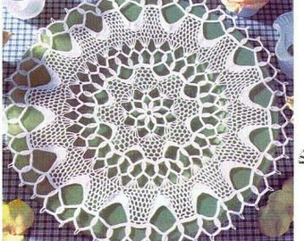 Round lace doily 13.8 inches