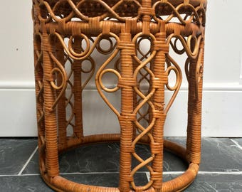 Beautiful Cane Side Table / Stool / Plant stand