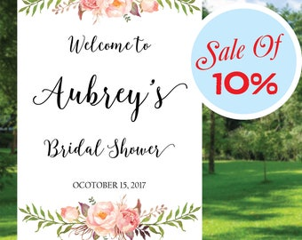 Sale of 10%, Bridal Shower Welcome Sign, Baby Shower sign, Printable  Bridal Shower Signs, Bridal Brunch Sign, Boho Bridal Signs 04