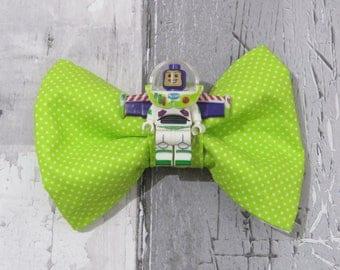 MiniFigure Disney Toy Story Buzz Lightyear Lego Dog Bow Tie, Dog clothing, Doggy Bow Tie, Puppy Bow Tie, Detachable Bow Tie, Slip on bow tie