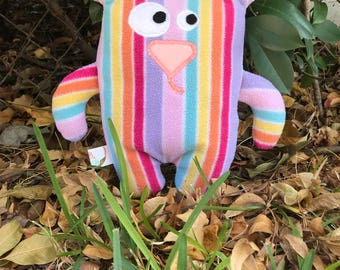Handmade stuffed toy, Gifts for kids, Up-cycled toy, Christmas gifts