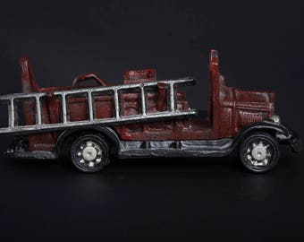Vintage Big Red Firetruck with detacheable ladder