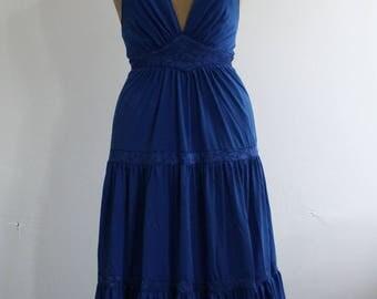 Vintage 1970s RADLEY Halterneck Maxi Dress