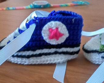 Baby converse made by hand