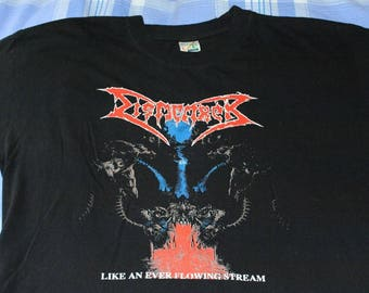 Vintage Dismember Like An Ever Flowing Stream t-shirt (XL) entombed morbid angel death autopsy repulsion
