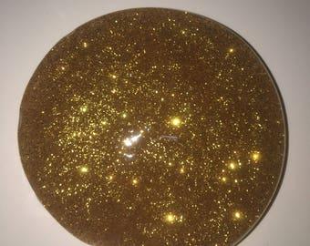 gold glitter slime! 4oz