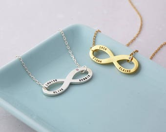Dainty Infinity Necklace - Sister Infinity Necklace - Personalized Jewelry - Sisters Gift - Custom Necklace
