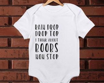 Baby Outfit/  Baby Onesie/ Funny Baby Onesie/ Baby Shower Gift/ Baby Bodysuit/ Funny Baby Bodysuit/ Hip Hop Onesie/ Rain Drop Drop Top Shirt