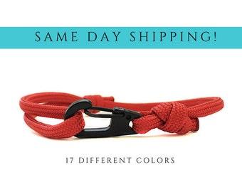Red Cord Bracelet Survival Gear Survival Kit Surfer Bracelet Men Paracord Survival Bracelet Red String Bracelet Red Bracelet Thick Bracelet