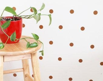 Gold Polka Dot Wall Decals/ Gold Wall Decals/ Wall Decals/ Gold Decor/ Confetti/ Polka Dot Wall Decal/ Wall Decal/ Polka Dots/ FREE SHIPPING