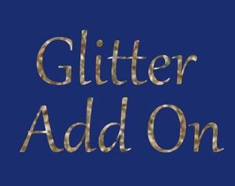 Glitter Lettering Add On
