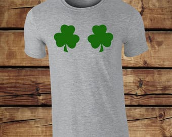 Irish Leaf T-shirt Tee Top - St Patricks Day Ireland Irish T-shirt - Ireland Clothing - St Paddy's Day T-shirt - Rugby Celtic Guiness Tee