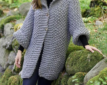 Oversized Cardigan 100% wool