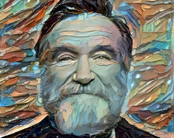 Framed Robin Williams Print 11x17 Black Slim. 100 percent of the proceeds of this item will be donated to charity